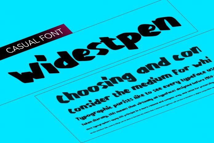 WidestPen pen like font very wide