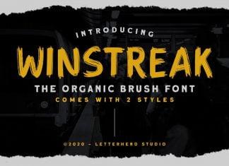 Winstreak - Brush Font