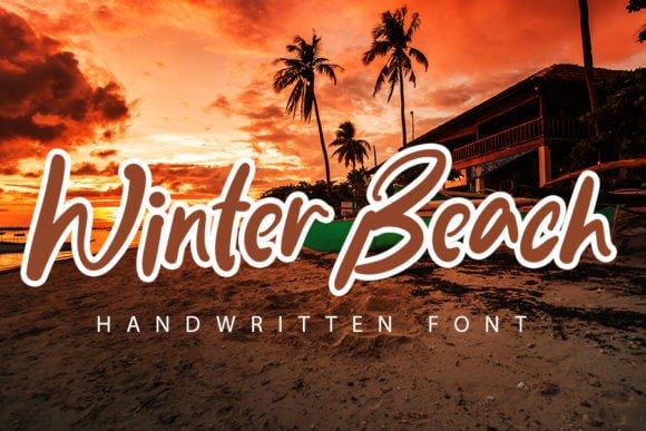 Winter Beach Font