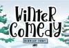 Winter Comedy Font