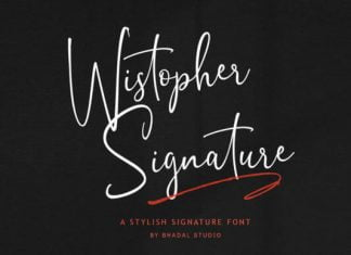 Wistopher Signature Font