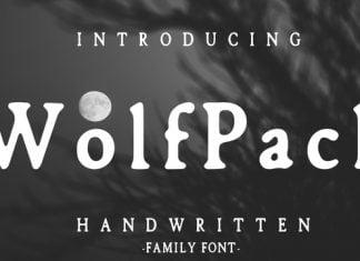 Wolfpack Handwritten Font