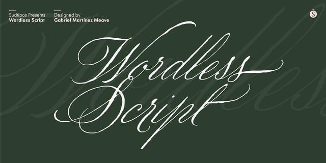 Wordless Script Font
