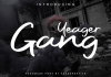 Yeager Gang Font