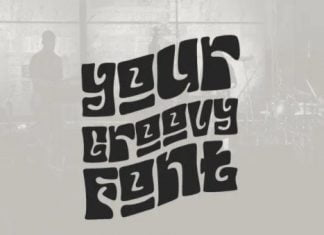 Your Groovy Font - funk psychedelic 70s font