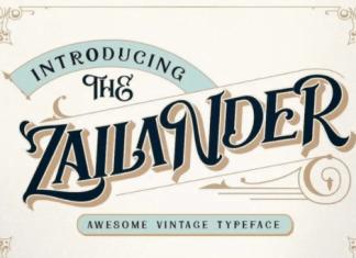 Zailander - Vectorian Vintage Font
