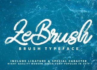 ZeBrush Brush Script Font