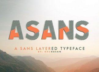 asans layered typeface Font