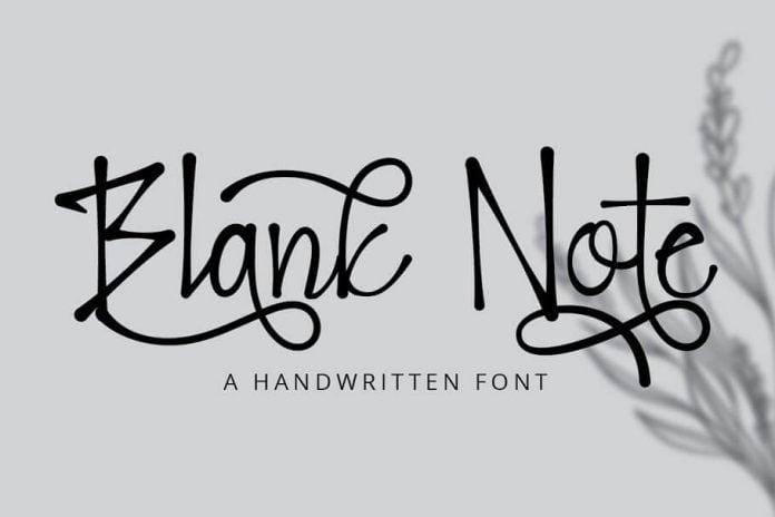 Blank Note - Ink Handwritten