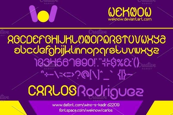 Carlos Family 5 Styles Font