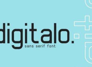 digitalo - digital font
