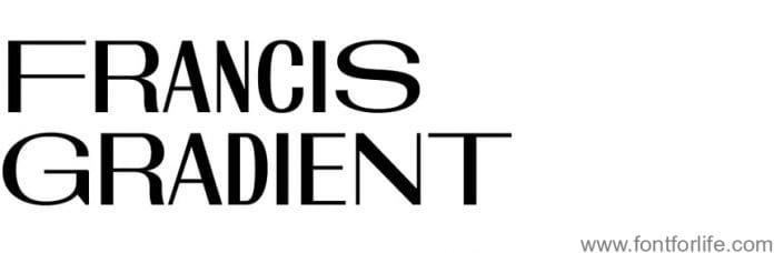 Francis Gradient Font