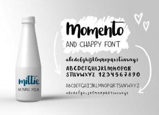 Momento script font Chappy font