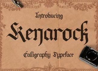 Kenarock Caligraphy Typeface Font