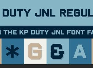 KP Duty JNL Font